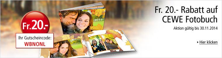 Weltbild Fotoservice: Fr. 20.- Rabatt auf CEWE Fotobuch