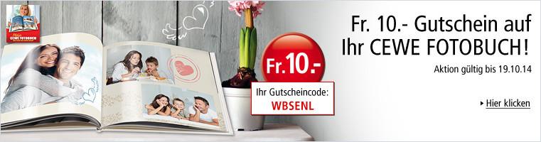 Weltbild Fotoservice: Fr. 10.- Gutschein auf Ihr CEWE Fotobuch