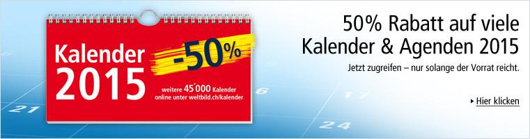 SALE: Viele Kalender 2015 um 50% reduziert!