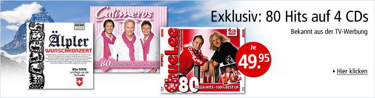 80 Hits auf CDs