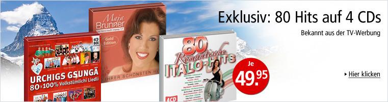 80 Hits auf 4 CDs