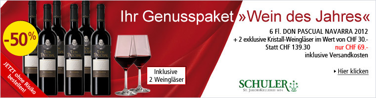 Genusspaket Wein des Jahres - 6 Flaschen Don Pascual Navarra 2012