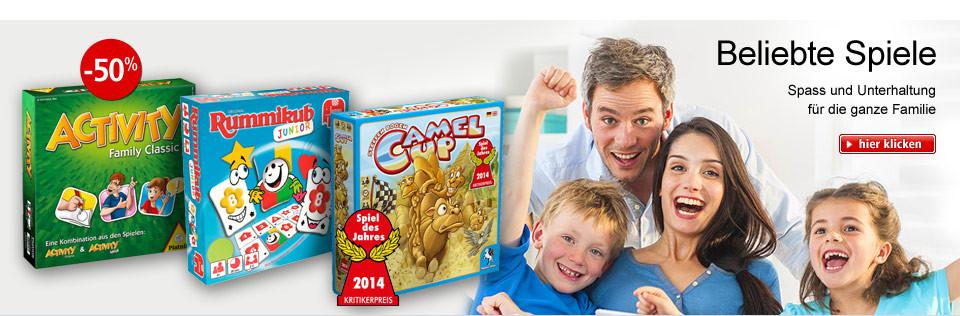 Beliebte Spiele - Spass und Unterhaltung für die ganze Familie