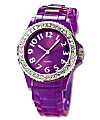 Armbanduhr Trendy Watch (Farbe: Clear Violett)