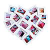 Bilderrahmen in Herzform für 16 Fotos, Farbe: weiss