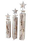 Deko-Sterne aus Holz, 3er-Set