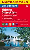 Die Freizeitkarte Holstein, Ostseeküste