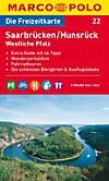 Die Freizeitkarte Saarbrücken / Hunsrück, Westliche Pfalz