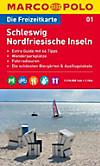 Die Freizeitkarte Schleswig, Nordfriesische Inseln