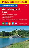 Die Freizeitkarte Weserbergland, Harz