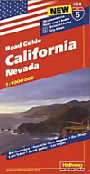Hallwag USA Road Guide: No.5 California, Nevada