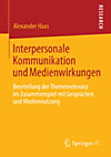 Interpersonale Kommunikation und Medienwirkungen (eBook)
