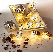 """LED-Lichterkette """"Silbersterne"""""""
