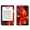 Skin für eBook Reader tolino shine (Farbe: flower of fire)
