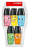 STABILO Boss Mini Ghosts, Textmarker, 5er-Etui