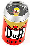 The Simpsons Wecker Duff-Bierdose