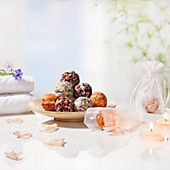 VitalWorld Badekugeln 3er Set Duft Rose (Rosenblütenblätter)